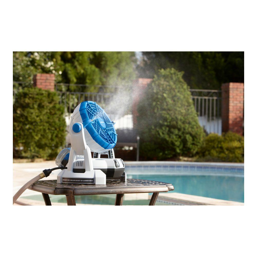 Arctic Cove Mbf018 18v Cordless Bucket Top Misting Fan New