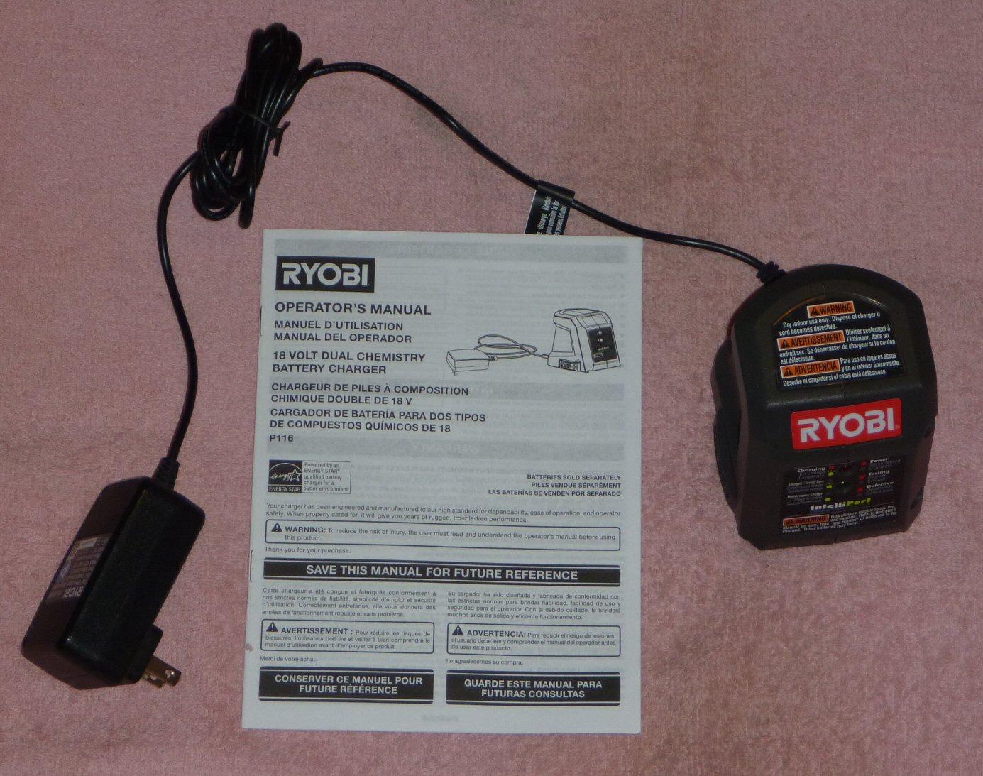 toolboy s corner ryobi 18v chargers rh toolboyworld com Ryobi Blower Parts Ryobi Drill Manuals